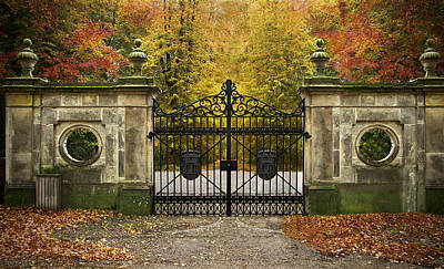 Photograph - Through A Gate For The Autumn Forest by Henrik Petersen