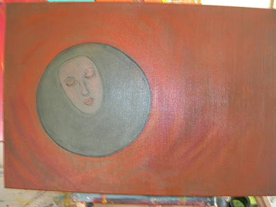 Art Print featuring the painting Through A Mirror Darkly by Sharyn Winters