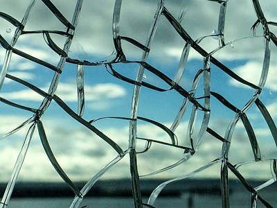 Photograph - Through Cracked Glass 2 by Ronda Broatch
