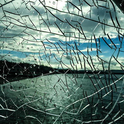 Photograph - Through Cracked Glass by Ronda Broatch