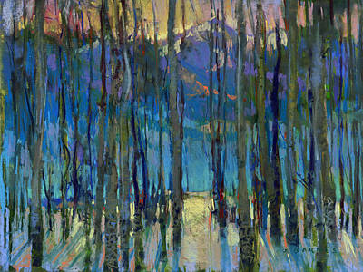 Pastel - Through The Aspen by Greg Barnes
