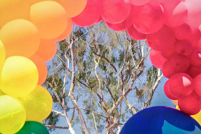 Digital Art - Through The Balloons by Photographic Art by Russel Ray Photos