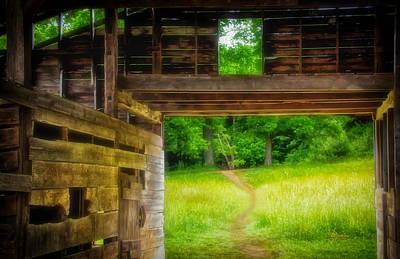 Photograph - Through The Barn Door by Carolyn Derstine