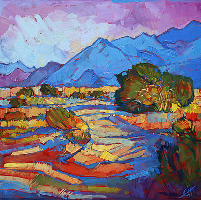 National Parks Painting - Through The Blue by Erin Hanson