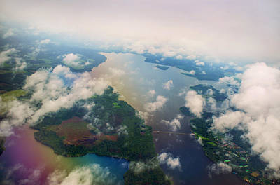 Unique View Photograph - Through The Clouds. Rainbow Earth by Jenny Rainbow
