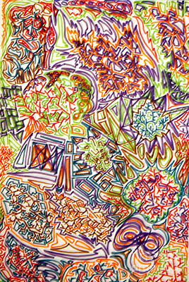 Rainbow Drawing - Through The Forces by Erin Masterson