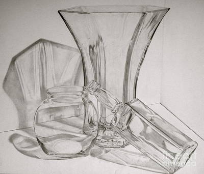 Through The Glass Art Print by Jen Santa