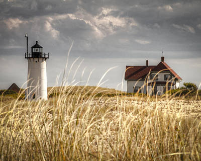 Photograph - Race Point Light Through The Grass by Brian Caldwell