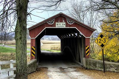 Photograph - Through The Historic Gottlieb Brown Bridge by Gene Walls