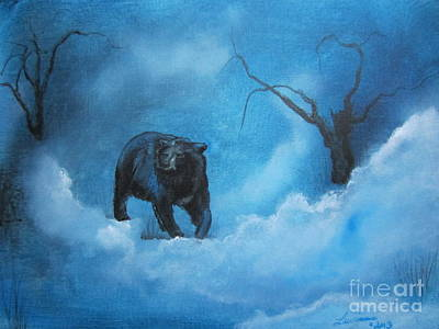 North American Wildlife Painting - Through The Mist by Laurianna Taylor