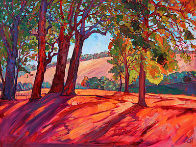Loose Painting - Through The Oaks by Erin Hanson