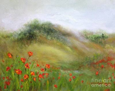 Painting - Through The Poppies by Kathy Lynn Goldbach