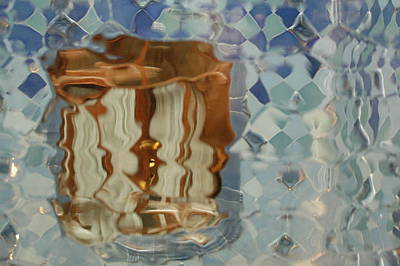 Through The Sea To The Window Print by Kathy Schumann