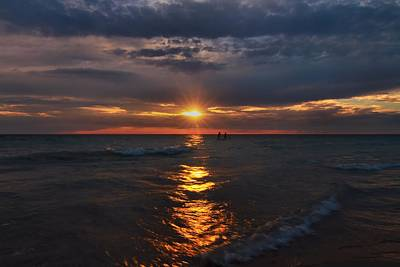Wakeboard Photograph - Through The Sunset At Sleeping Bear Dunes by Dan Sproul