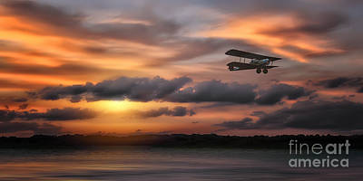 Bi Planes Photograph - Through The Time Zone by Tom York Images