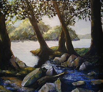 Painting - Through The Trees by Don Perino