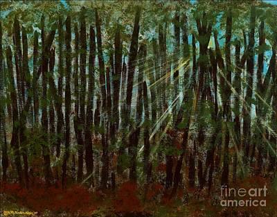 Through The Trees Art Print by Hillary Binder-Klein