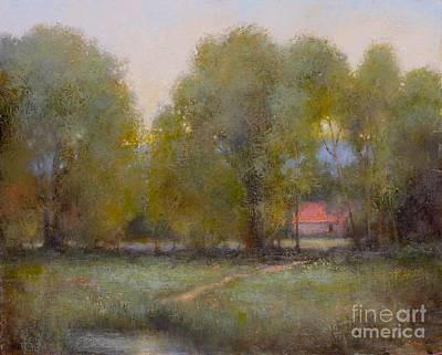 Painting - Through The Trees by Lori  McNee