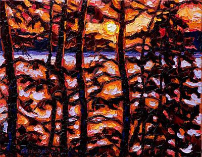 Through The Trees Art Print by Rob MacArthur