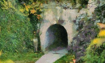 Contemplate Mixed Media - Through The Tunnel by Dan Sproul