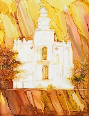 St. George Temple Painting - Through The Veil-st George Ut by Lisa Marsing