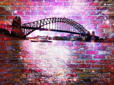 Sydney Harbour Through The Wall 1 Art Print