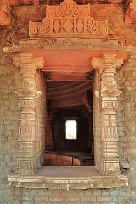 When Windows Become Art - Jain Temple - Amarkantak India Art Print by Kim Bemis