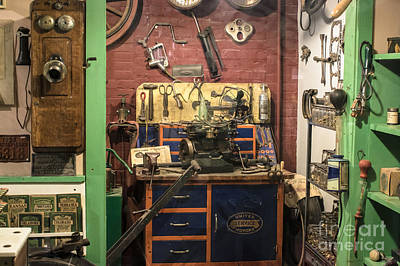 Garage Of Yesteryear Art Print