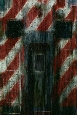 Pour Digital Art - Through The Window On A Rainy Day In May by Jack Zulli