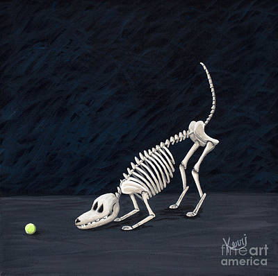 Lets Play Painting - Throw The Ball by Kerri Ertman