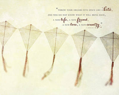 Throw Your Dreams Like A Kite Art Print