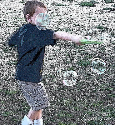 Photograph - Throwing Bubbles by Lesa Fine