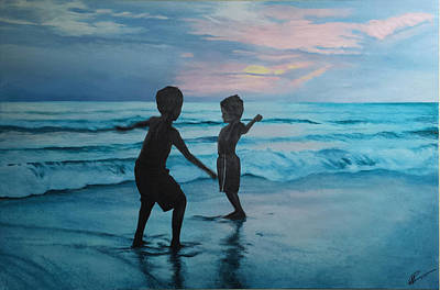 Painting - Throwing Sand by Scott Robinson