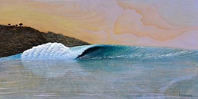 Surfing Art Painting - Thunder At The Break Of Dawn by Nathan Ledyard