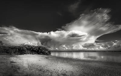 Spring Scenes Photograph - Thunder Head Comming Bw by Marvin Spates