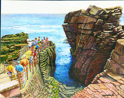 Maine Landscapes Painting - Thunder Hole by Thomas Michael Meddaugh