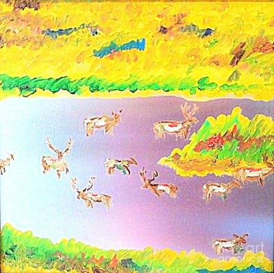 Painting - Thunder Ranch Utah Colorado Border by Richard W Linford