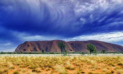 Uluru Photograph - Thunder Rock by Holly Kempe