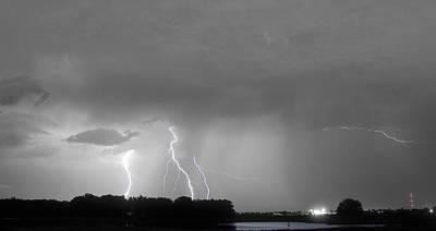 Thunder Rolls And The Lightnin Strikes Bwsc Art Print by James BO  Insogna