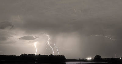 Photograph - Thunder Rolls And The Lightnin Strikes Sepia by James BO  Insogna