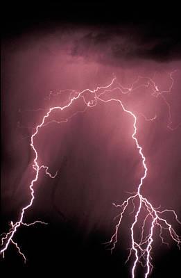 Thunder Storm In The Sky Art Print