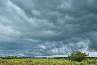 Thunder Storm Over Countryside Art Print by Raimund Linke