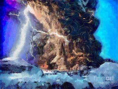 Thunder Struck Art Print