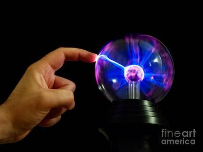 Plasmatron Photograph - Thunder Touch by Sinisa Botas