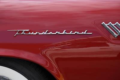 Car Logos Photograph - Thunderbird Emblem by Mike McGlothlen
