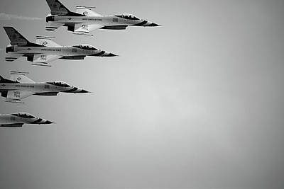 Military Photograph - Thunderbird Fly Over At Macdill Afb by Christopher Jones