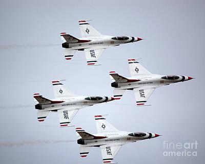 Photograph - Thunderbird Jet Team Up Close by Debra Thompson