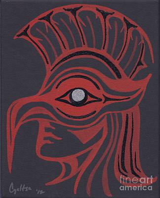 Wall Art - Painting - Thunderbird Mask by A Cyaltsa Finkbonner