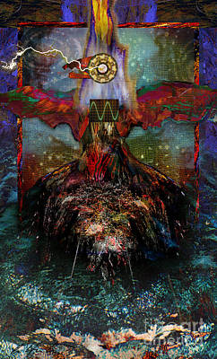 Thunder Mixed Media - Thunderbird Of Reconciliation by Alyssa Hinton