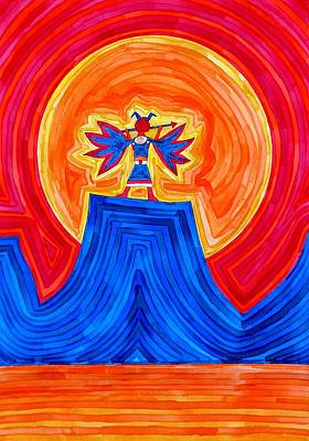 Thunderbird Original Painting Sold Print by Sol Luckman
